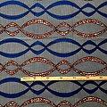 Pagne - Wax 100% coton - Graphiques - Bleu / Marron / Noir