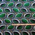 Coupon de tissu - Wax 100% graphiques - Vert / Turquoise / Bleu
