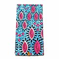 Coupon de tissu - Wax 100% coton - Graphiques - Rose / Bleu / Noir