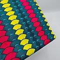 Pagne - Wax  - Demi-cercle - Graphique - Rouge / Jaune / Vert