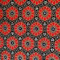 Pagne - Wax - Graphiques - Rouge / Marron / Jaune