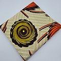Pagne - Wax - Spirales - Jaune / Orange / Noir / Ocre