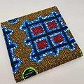 Coupon de tissu - Wax - Graphiques - Vert / Bleu / Rouge / Ocre