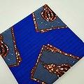 Pagne - Wax - Ampoules - Bleu / Marron / Blanc