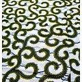 Coupon de tissu - Wax - Graphiques - Jaune / Blanc / Noir