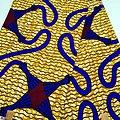 Pagne - Wax - Graphiques - Jaune / Bleu / Bordeaux