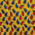 Pagne - Wax - Anaïs - Jaune / Bleu / Rouge