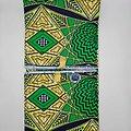 Coupon de tissu - Wax - Graphiques - Vert / Jaune / Noir