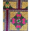 Pagne - Wax - Graphiques - Rose / Vert / Jaune