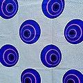 Pagne - Wax - Ballons - Bleu / Blanc / Rose