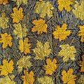 Coupon de tissu - Wax - Hélène - Orange / Jaune / Bleu