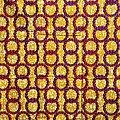 Coupon de tissu - Wax - Anneaux - Rose / Orange / Ocre