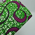 Coupon de tissu - Wax - Serpentin - Vert / Violet