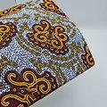 Coupon de tissu - Wax - Graphiques - Jaune / Rouge / Blanc