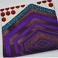 Pagne - Wax - Graphiques - Violet / Marron / Rouge