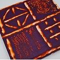 Coupon de tissu - Wax - kente - Violet / Orange / Crème