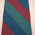 Coupon de tissu - Wax - Rayures - Bleu / Rouge / Jaune