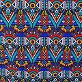 Coupon de tissu - Wax - Aurélia Loïc - Multi-couleurs