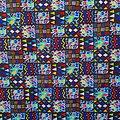 Coupon de tissu - Wax - Graphiques - Multi-couleurs
