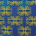 Pagne - Wax - Graphiques - Jaune / Bleu