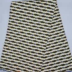 Pagne - Wax - Mari capable - Blanc / Noir / Jaune