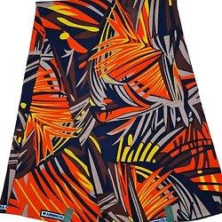Coupon de tissu - Wax - Graphiques - Orange / Jaune / Marron