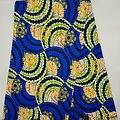 Coupon de tissu - Wax - Graphiques - Pailleté - Bleu / Vert / Orange