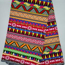 Coupon de tissue - Wax 100% coton - Graphiques - Multi-couleurs
