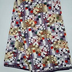 Pagne - Wax 100% coton - Graphiques - Violet / Vert / Blanc
