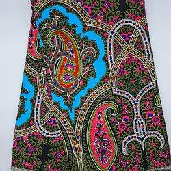 Pagne - Wax 100% coton - Graphiques - Rose / Vert / Blanc