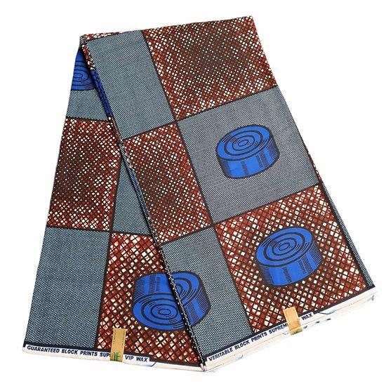 Pagne - Wax - Graphiques - Bleu / Marron / Noir