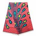 Pagne - Wax 100% coton - Pétales - Rose - Turquoise - Jaune