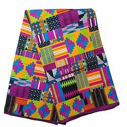 Pagne - Wax 100% coton - Graphiques - Multi-couleurs