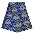 Pagne - Wax 100% coton - Graphiques - Bleu / Jaune / Blanc