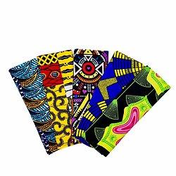 Wax 100% coton - Lot N°18 - 5 coupons de 50cm / 1m20