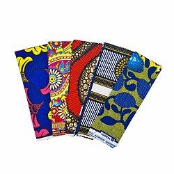 Wax 100% coton - Lot N°25 - 5 coupons de 50cm / 1m20