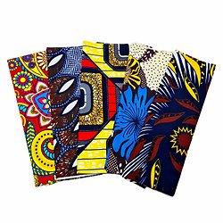 Wax 100% coton - Lot N°32 - 5 coupons de 50cm / 1m20