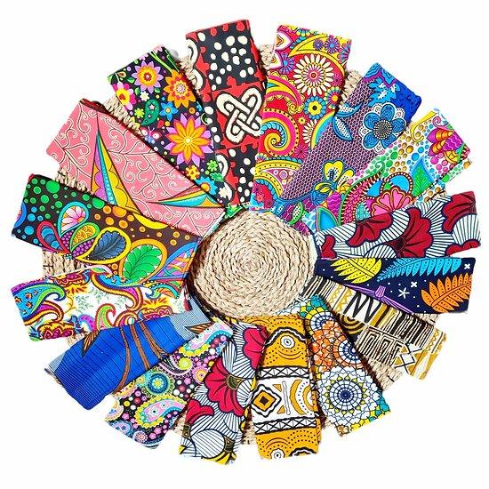 Wax 100% coton - Lot N°01 - 16 coupons de 60cm / 1m20