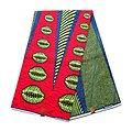 Pagne - Wax 100% coton - Graphiques - Rouge / Vert / Bleu