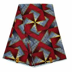 Pagne - Wax 100% coton - Graphiques - Rouge / Jaune / Noir