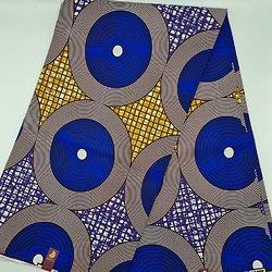 Pagne - Wax  - Rond - Graphique - Bleu