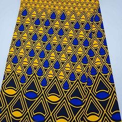Pagne - Wax - Graphiques - Jaune / Bleu / Noir