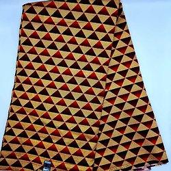 Coupon de tissu - Wax - Graphiques - Pailleté - Rouge / Bordeaux / Doré