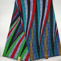 Coupon de tissu - Wax - Jenni - Rouge / Vert / Bleu