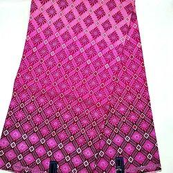 Coupon de tissu - Wax - Graphiques - Rose / Violet / Blanc