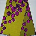 Coupon de tissu - Wax - Fleurs - Jaune / Rose / Noir