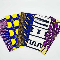 Lot N°4 de 5 coupons de tissu de 50cm / 1m20