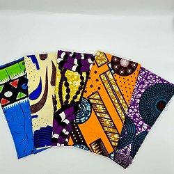 Lot N°5 de 5 coupons de tissu de 50cm / 1m20