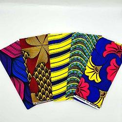 Lot N°10 de 5 coupons de tissu de 50cm / 1m20