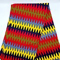 Coupon de tissu - Wax - Graphiques - Jaune / Noir / Rouge